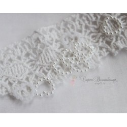 Сердечко жемчужное, цвет белый, 11мм, 10шт