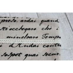 Ткань Письмо, лен, 50*75см.