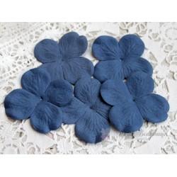 Цветы гортензии, цвет синий, 50мм, 10 цветочков