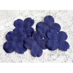 Цветы гортензии, цвет фиолетово-синий, 50мм, 10 цветочков