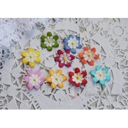 Набор цветочков, яркие оттенки, 20мм, 10шт.