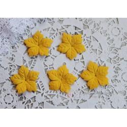 Пуансетия, цвет желтый, 40мм, 10шт