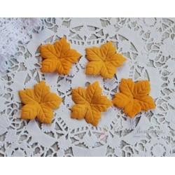 Пуансетия, цвет насыщенный желтый, 40мм, 10шт