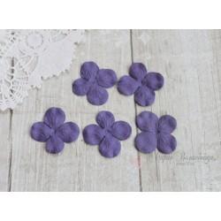 Цветы гортензии, цвет фиолетовый, 30мм, 10 цветочков