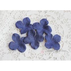 Цветы гортензии, цвет синий, 40мм, 10 цветочков