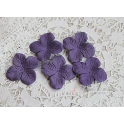 Цветы гортензии, цвет фиолетово-синий, 40мм, 10 цветочков
