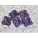 Цветы гортензии, цвет фиолетово-синий, 35мм, 10 цветочков