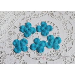 Цветы гортензии, цвет бирюзовый, 30мм, 10 цветочков