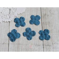 Цветы гортензии, цвет светло-синий, 30мм, 10 цветочков