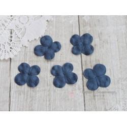 Цветы гортензии, цвет синий, 30мм, 10 цветочков