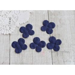 Цветы гортензии, цвет фиолетово-синий, 30мм, 10 цветочков