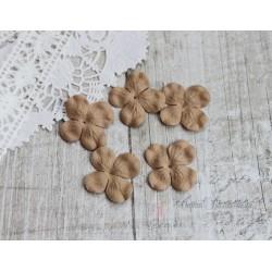 Цветы гортензии, цвет какао, 30мм, 10 цветочков