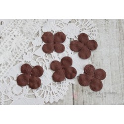 Цветы гортензии, цвет коричневый, 30мм, 10 цветочков