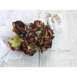 Дикая роза, цвет коричневый, 3см, 1шт