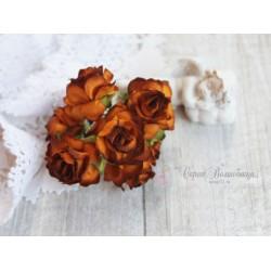 Дикая роза, цвет карамель, 3см, 1шт