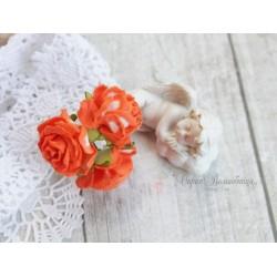 Дикая роза, цвет оранжевый, 3см, 1шт