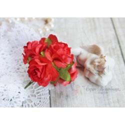 Дикая роза, цвет насыщенный розовый, 3см, 1шт