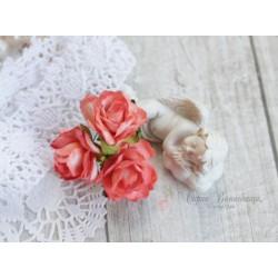 Дикая роза, цвет светло-розовый, 3см, 1шт
