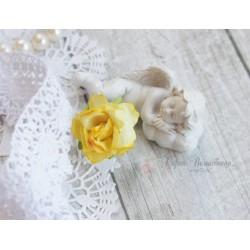 Дикая роза, цвет желтый, 3см, 1шт