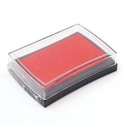 Штемпельная подушечка, цвет красный, 76x52x18 мм