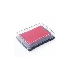 Штемпельная подушечка, цвет бордовый, 76x52x18 мм
