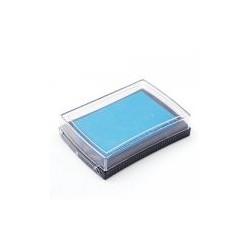 Штемпельная подушечка, цвет голубой, 76x52x18 мм
