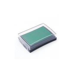 Штемпельная подушечка, цвет зеленый, 76x52x18 мм