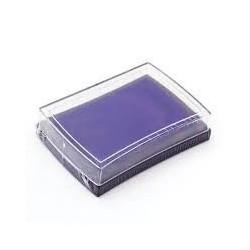 Штемпельная подушечка, цвет фиолетовый, 76x52x18 мм
