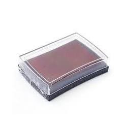 Штемпельная подушечка, цвет коричневый, 76x52x18 мм