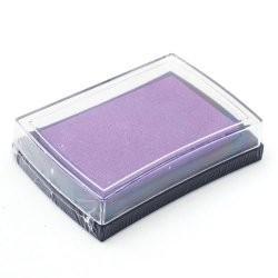 Штемпельная подушечка, цвет сиреневый, 76x52x18 мм