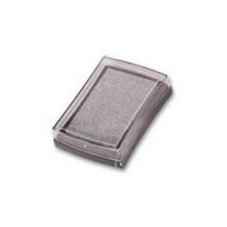 Штемпельная подушечка, цвет под серебро, 76x52x18 мм