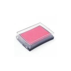 Штемпельная подушечка, цвет темно-розовый, 76x52x18 мм