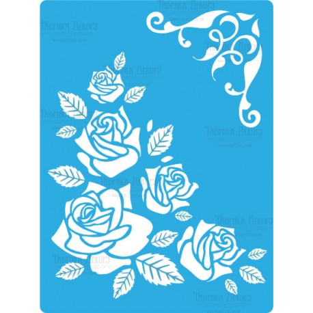 Трафарет «Чайная роза», 15*20см