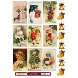 """Набор картинок для декорирования """"Новый год 3"""" мини, А4, 220гр"""