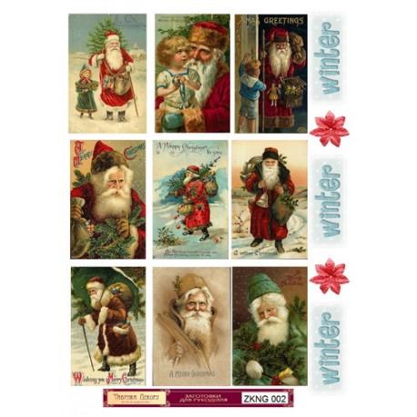 """Набор картинок для декорирования """"Новый год 2"""" мини, А4, 220гр"""