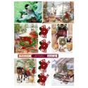 """Набор картинок для декорирования """"Новый год 1"""" мини, А4, 220гр"""