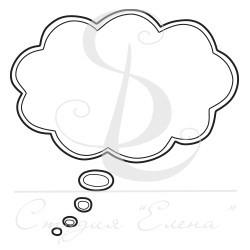 "ФП штамп ""Облако для фразы"" 2, 5*5см"