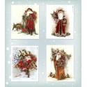 """Набор картинок для декорирования """"Санта Клаусы-1"""", 190гр"""