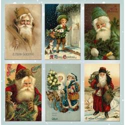"""Набор картинок для декорирования """"Санта Клаусы-2"""", 190гр"""