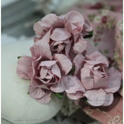 Цветок Дымчатая роза, цвет темно-розовый, 2.8см, 1шт