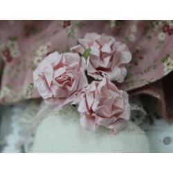 Цветок Розовое кружево, цвет розовый, 2.8см, 1шт
