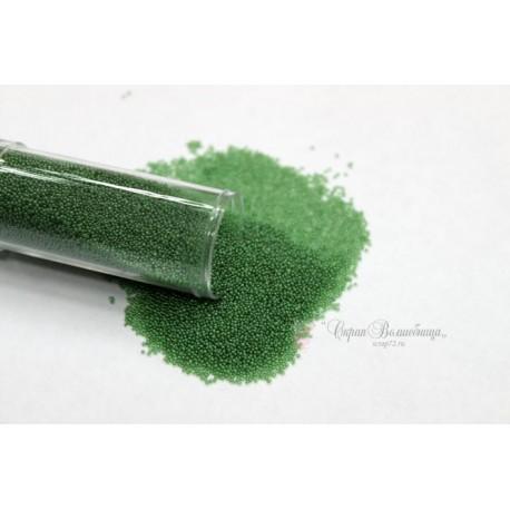 Микробисер, цвет зеленый, 0.6-0.8 мм, 30 г