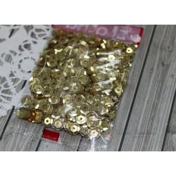 """Пайетки """"Zlatka"""" россыпью, цвет золото, 6 мм, 10 г"""