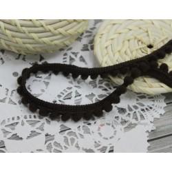 """Тесьма декоративная """"BLITZ"""", цвет темно-коричневый, 10 мм, 1м"""