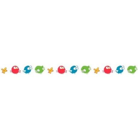 Бумажный скотч с принтом. Basik&Co. Птички 15мм*8м SCB4905016