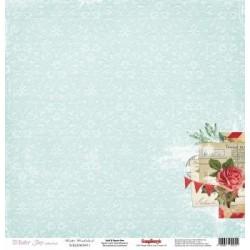 Бумага для скрапбукинга 30,5х30,5 см 180 гр/м одностор Зимнее Утро Сказка, 1 лист