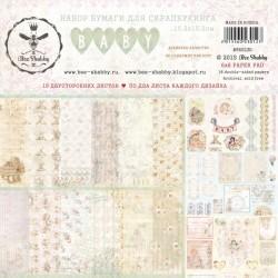 Набор бумаги для скрапбукинга MAGIC GARDEN. 16 двустор. листов, 190 г/м, 15*15 см