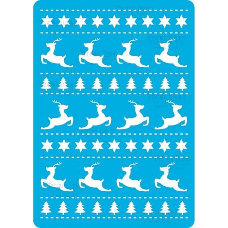 Трафарет «Рождественские олени», 15*20см