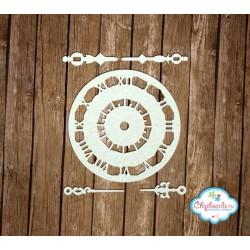 "Чипборд ""Часы 2"", 8см"
