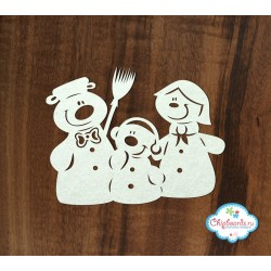 Чипборд Семья снеговиков, 9*7см